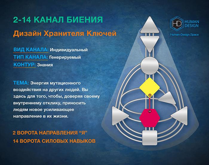 Канал 2-14 Дизайн Человека, Канал Биения 2-14